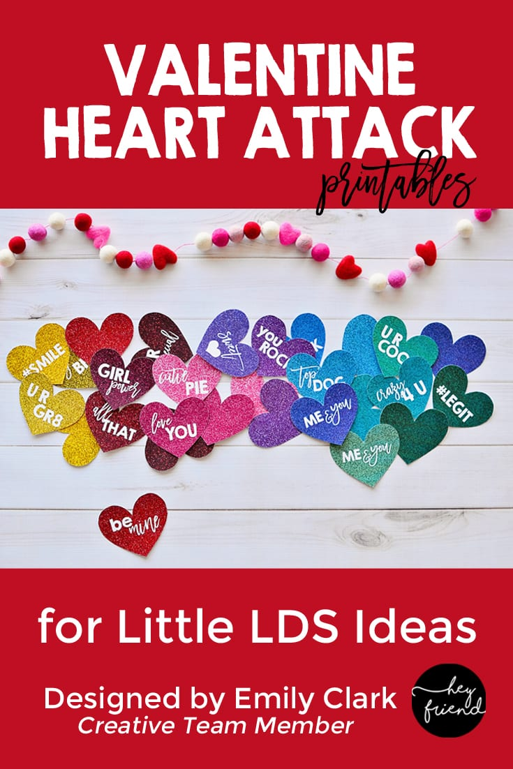 Valentine Heart Attack Printable Pack. Planning a heart attack activity? This pack is perfect and so cute. Grab the FREE printables on Little LDS Ideas. #ValentineActivity #HeartAttack #LDSActivityDays