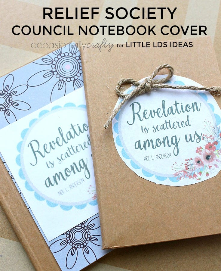Relief Society Council Notebook Cover created by Occasionally Crafty for Little LDS Ideas. Free printable included!
