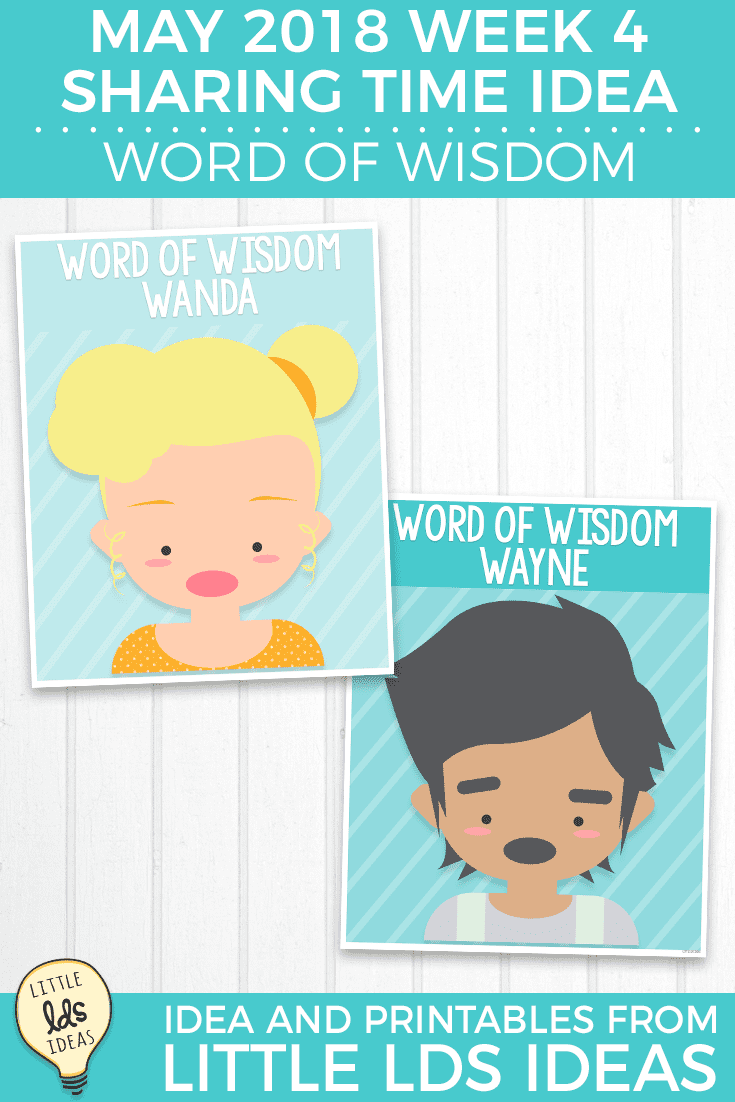 Word of Wisdom Sharing Time Game printables
