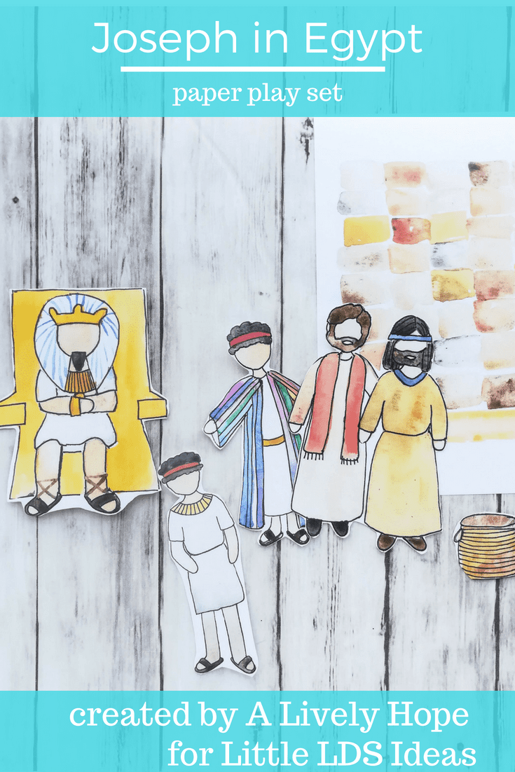 This adorable hand-painted Joseph in Egypt Paper Doll Set is perfect for family scripture study, Primary lessons, or for FHE lessons. Printable created by Heidi for Little LDS Ideas.