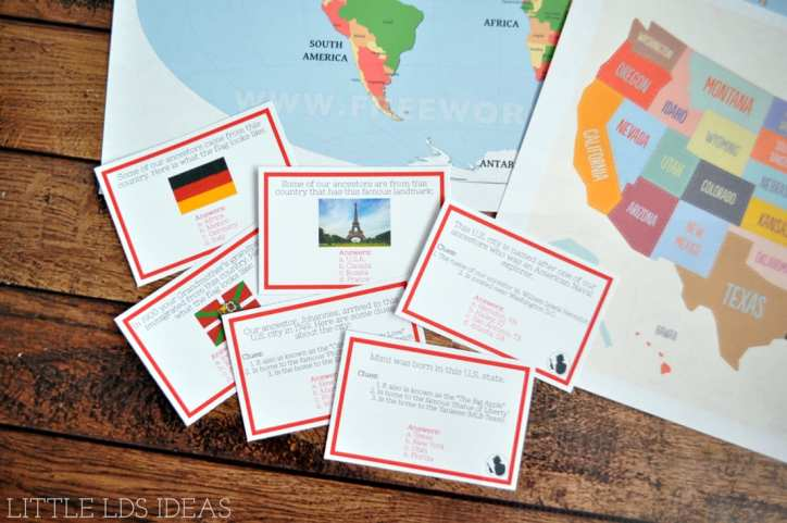 """Where in the World"" Family History Game"
