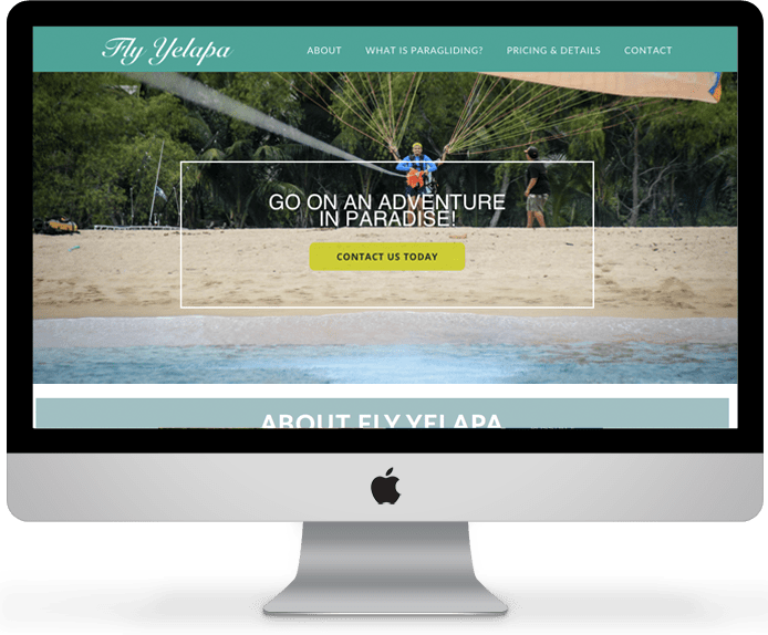 Fly Yelapa // Small business website design