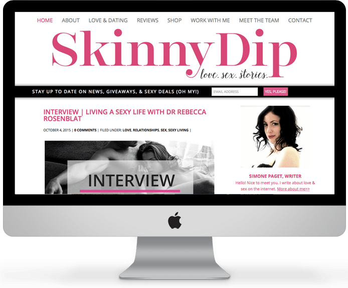 Skinny Dip // Relationship & Lifestyle Blog Design