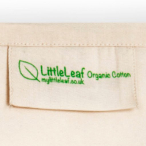 Littleleaf organic cotton pillowcase label