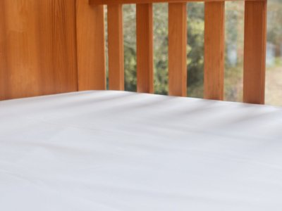 Fitted Organic Cotton Cot Bed Sheet in a Pure White Colour, Ethical Bedding for Baby