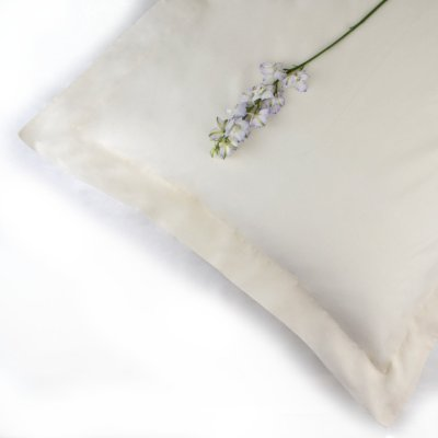 100% Organic Cotton Pillowcase Oxford Style in Natural Colour
