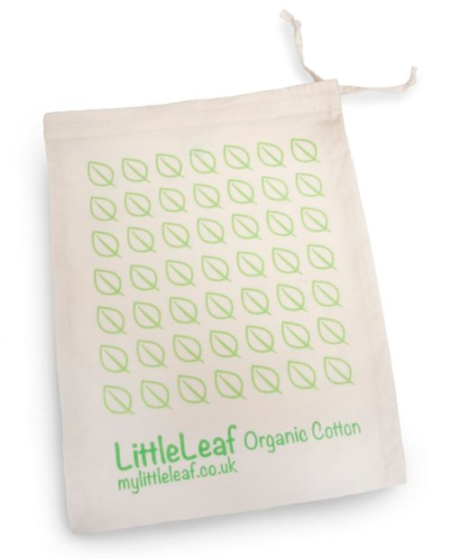 organic cotton sheet bag in white