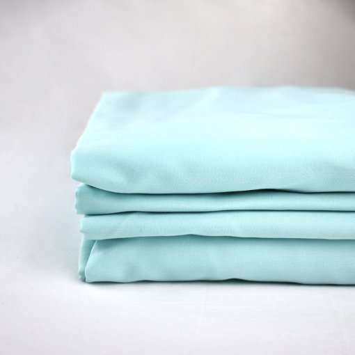 100% organic cotton sheets in an aquamarine colour