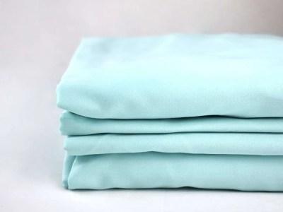 100% organic cotton sheets in an aquamarine colour