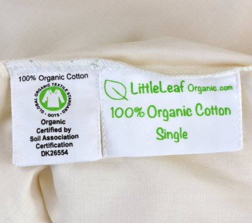premium quality organic sheets GOTS certified and Soil Association certified
