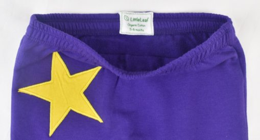 Organic Cotton Star Leggings By LittleLeaf Waistband View