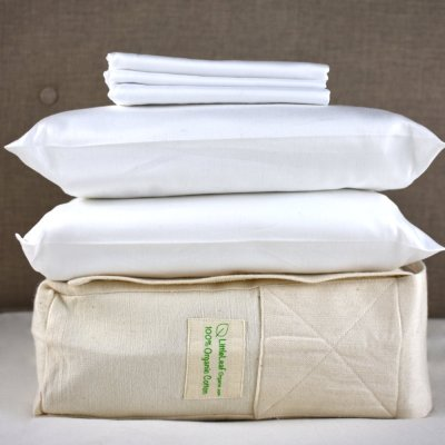 Pure White Organic Cotton Bedding Set by LittleLeaf