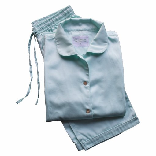 Aquamarine 100% Organic Cotton Pyjamas, GOTS and Soil Association Certified, by LittleLeaf