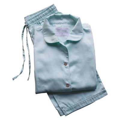 Aquamarine 100% Organic Cotton Pyjamas, GOTS and Soil Association Certified, by LittleLeaf