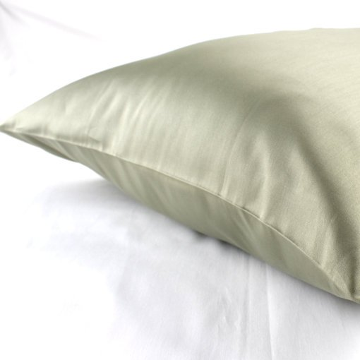 Olive Green Standard 100% organic cotton pillowcase GOTS certified organic, Soil Association Certified Organic