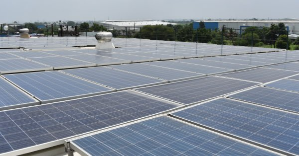 LittleLeaf Organic Cotton is made in a factory tory powered by these solar panels