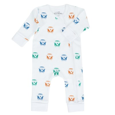 LittleLeaf Camper Van Baby Grow