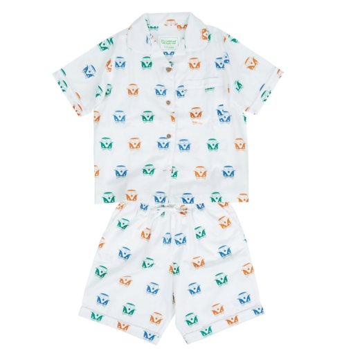 LittleLeaf Children's Campervan PJs with Shorts