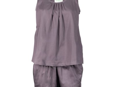 LittleLeaf Chocolate Plum PJs with Shorts