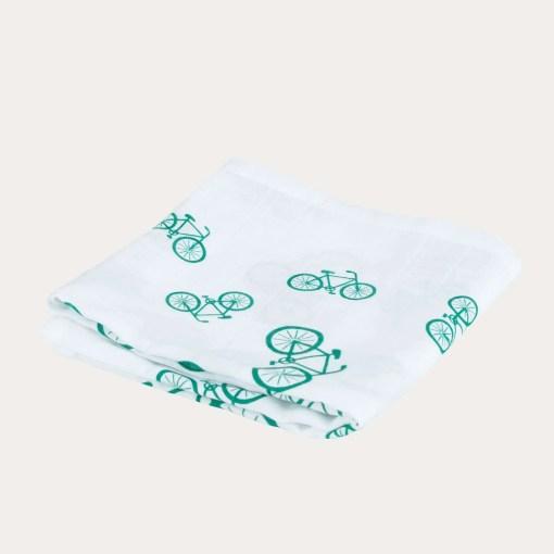 LittleLeaf Jumbled Bicycles Print Muslin