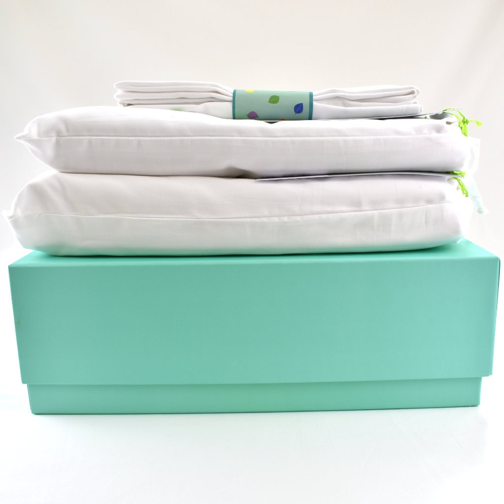 LittleLeaf Large Gift Box with Bedding Set on top