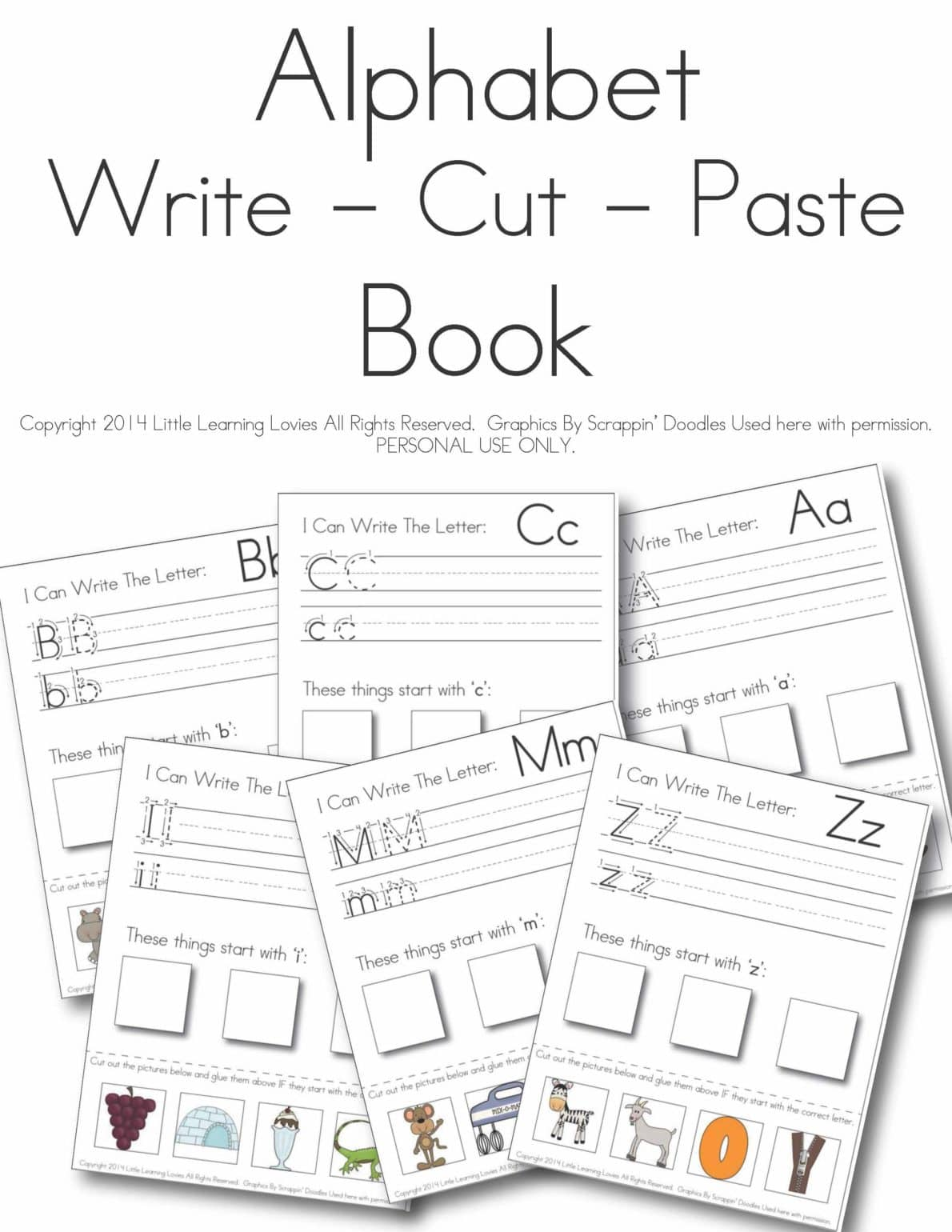 Letter I Worksheet Cut And Paste