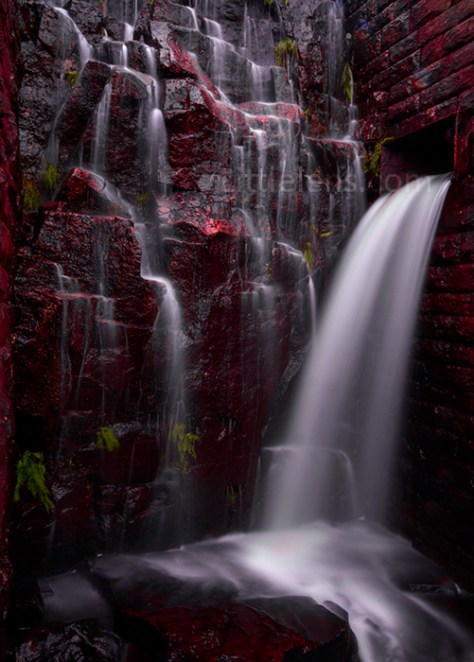 red-waterfall