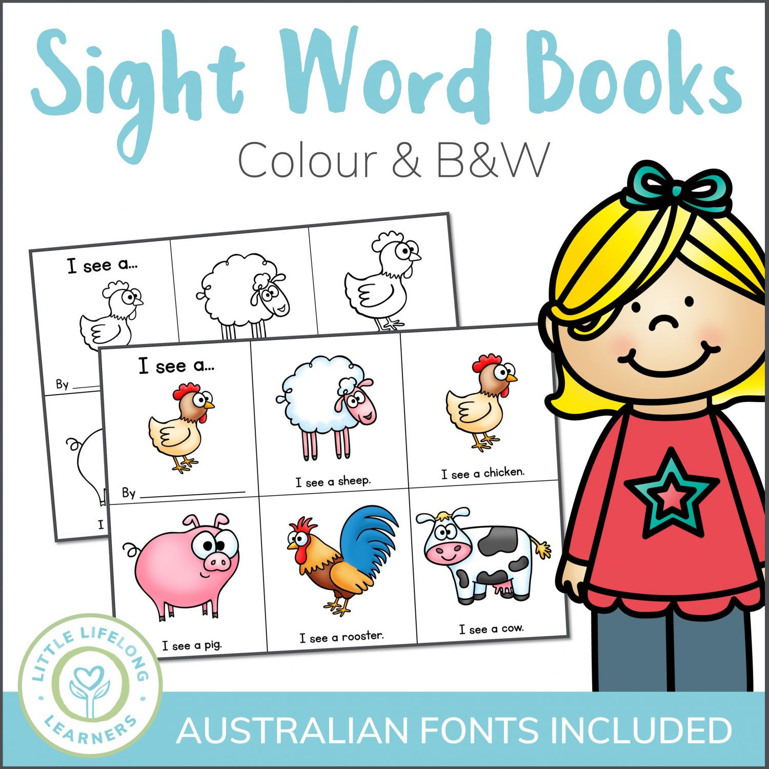 Mini Pre Reader Sight Word Book Printables