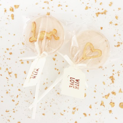 lollipop wedding favour
