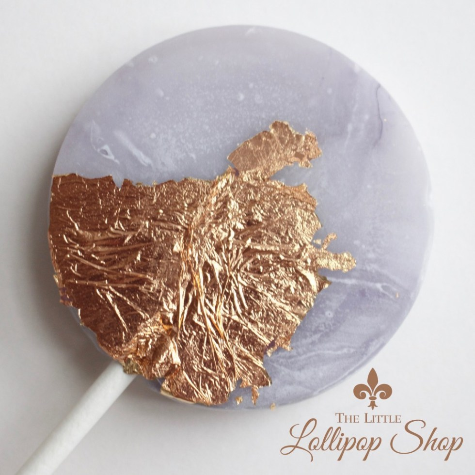 marble gold lollipop