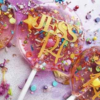 confetti party lollipops