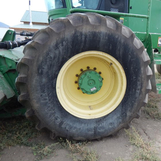John Deere Swather tire. We need tools that get a job done fast!