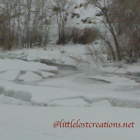 Ice Jam Salmon River, Idaho