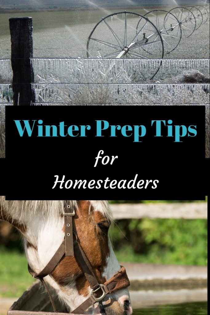 Sprinkler line and a fence with icecicles hangin off of it. Winter Prep Tips for Homesteaders