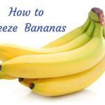 How to freeze bananas, yellow bananas