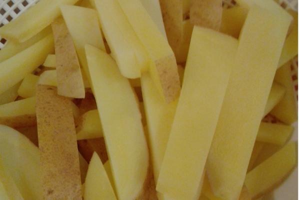 French Fry in strainer. Littlelostcreations.net