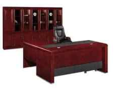 Athena Executive Desk – Royal Mahogany Veneer Set