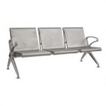 New Chrome Deluxe Square Aluminium Bench
