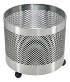 Mobile Round Perforated Planter – Stainless Steel