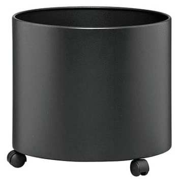 Mobile Round Solid Planter – Stainless Steel