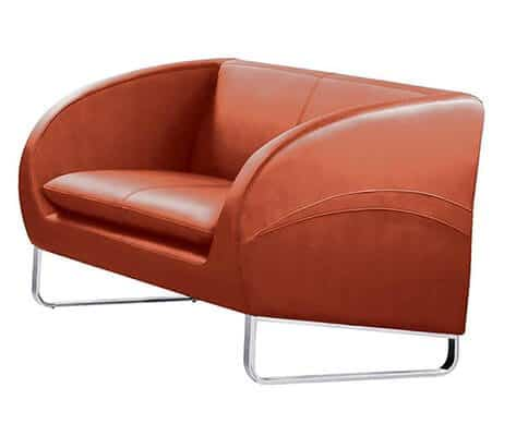 Vogue Couch – Chrome Frame