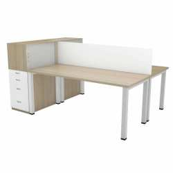 Boston Dual Desk – 2 Seater Call Centre Bench Solution System