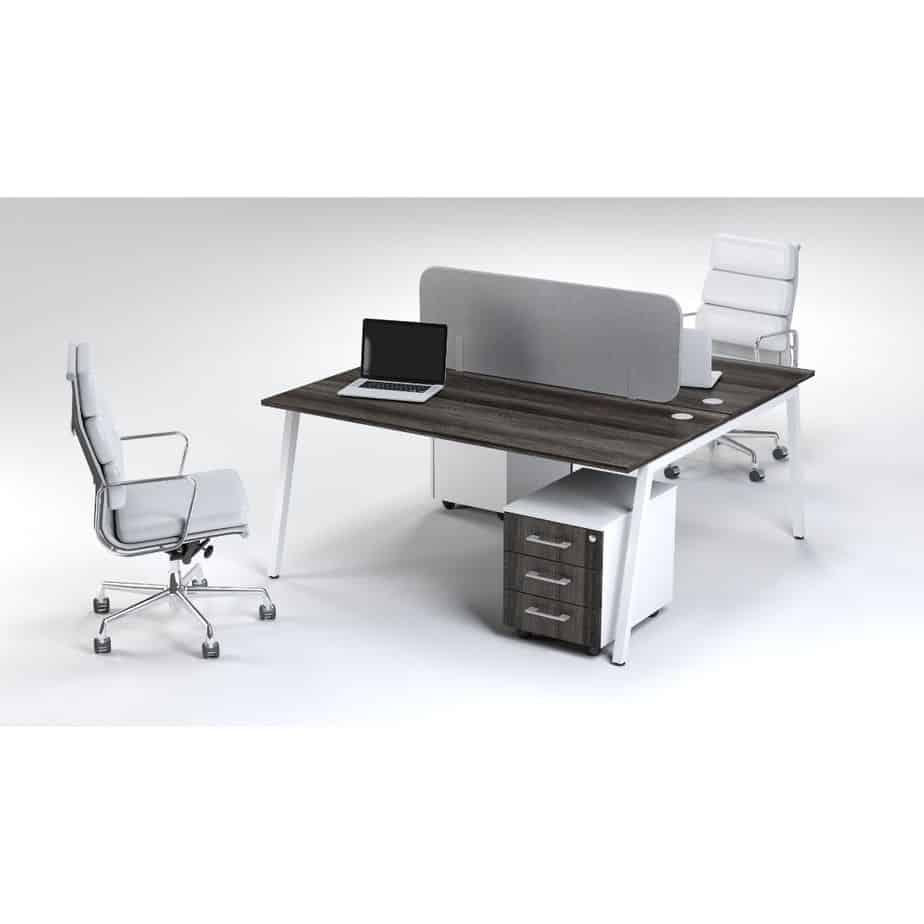 A Frame 2 Way Cluster Desk