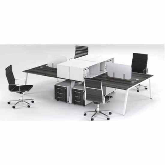 A Frame 4 Way Face to Face Cluster Desks