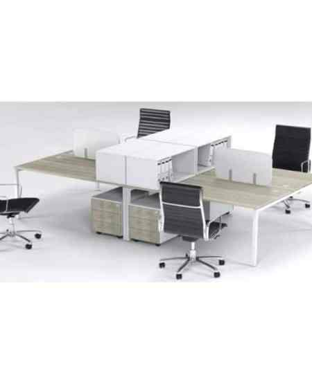 4 Way Cluster Desks Connect Face to Face