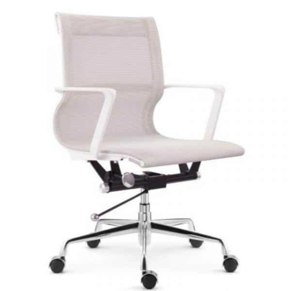 Setu Mesh Office Chair White Frame