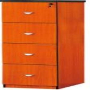 4 Drawer Filing Cabinet Mahogany