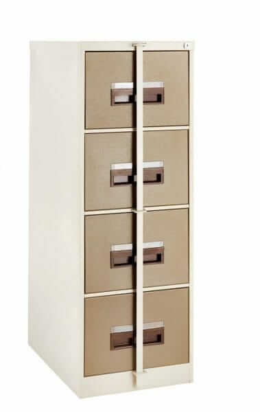 4 Drawer Steel Cabinet Security Bar, Hang Rails & Lock