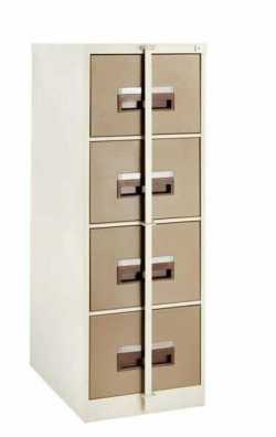 4 Drawer Steel Cabinet Security Bar, Hang Rails