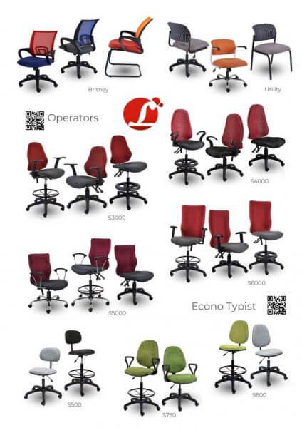 Operators Econo Typist Chairs